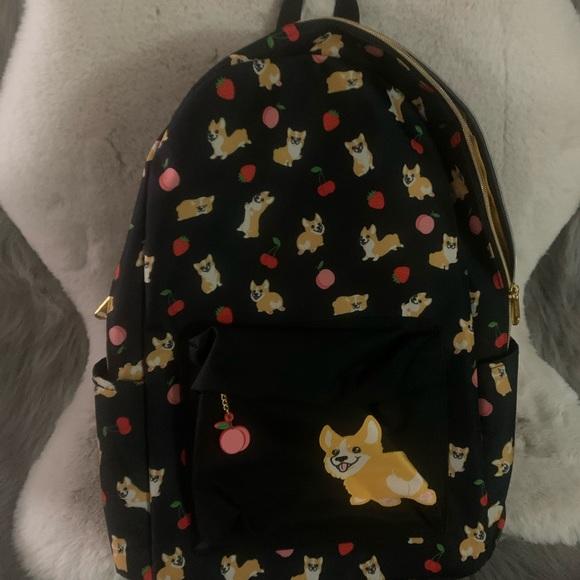 Loungefly x hot topic corgi backpack